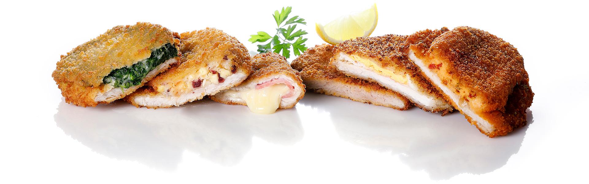 Verschiedene Schnitzel Variationen und Füllungen - HAPPY FOOD
